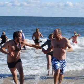 Cold water plunger fundraiser