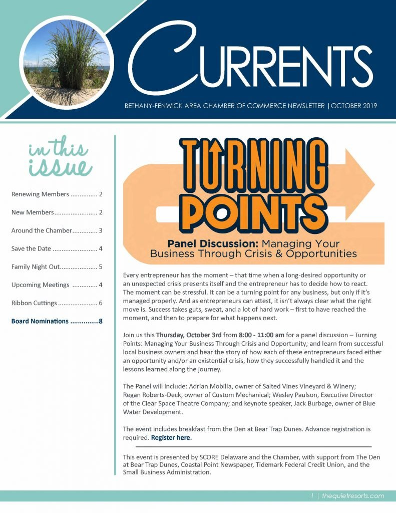 October 2019 Newsletter Page 1