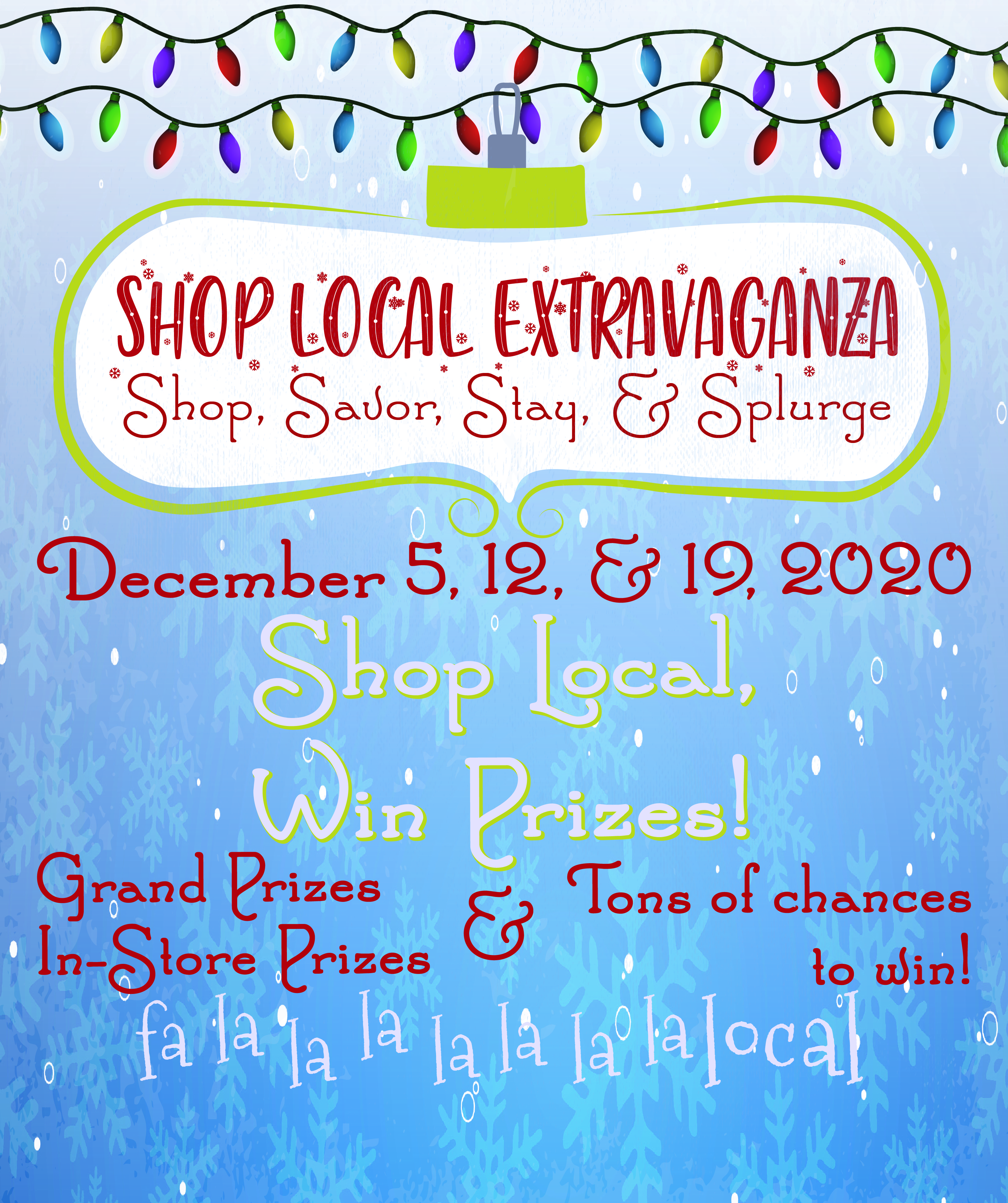 Shop Local – Win Prizes!!